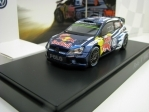Volkswagen Polo R WRC Red Bull No.9 Mikkelsen Rally MC 2015 1:43 Spark